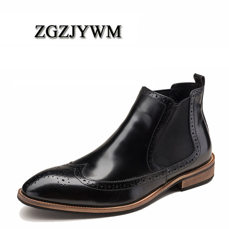 ZGZJYWM High Quality Men Boots Winter Slip-On Ankle Fur Waterproof Rubber Casual Genuine Leather Plush High Top Military BootsZGZJYWM High Quality Men Boots Winter Slip-On Ankle Fur Waterproof Rubber Casual Genuine Leather Plush High Top Military Boots