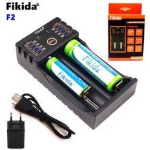 2019 Fikida F2 18650 Charger 1.2V 3.7V 3.2V 3.85V AA/AAA 18350 26650 10440 14500 16340 25500 NiMH Lithium Battery Charger(China)