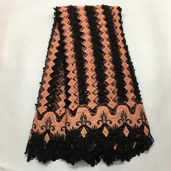 French laces fabrics high quality 2019 African tulle laces embroidered Nigerian laces fabrics for wedding dress 5 yards E65-2409