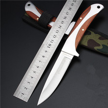2016 Real Navajas Outdoor Self-defense Wild Small Straight Knife For Wilderness Survival Than Zero 8 Folding Fruit Tools