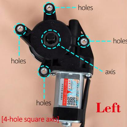 AZGIANT universal 12V/24V 4 hole square axis Electric car Window lifter motor Power Window Motor Regulator Left /Right buick excelle original model electric car window motor electric window lifter motor regulator motor front left