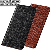HY06 Luxury Genuine Leather Phone Bag Stand Coque For OnePlus 7 Pro(6.67′) Phone Case For OnePlus 7 Pro Flip Cover Case