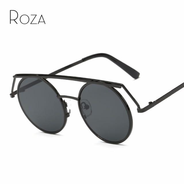 8c10a42b31ad5 Óculos De Sol Mulheres Steampunk Estilo ROZA Cobre Lente Moldura Redonda  Óculos Retro Marca Designer Óculos