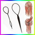 Hot Sale Chic Magic Topsy Tail Hair Braid Ponytail Styling Maker Clip Tool Black 2pcs Drop Shipping