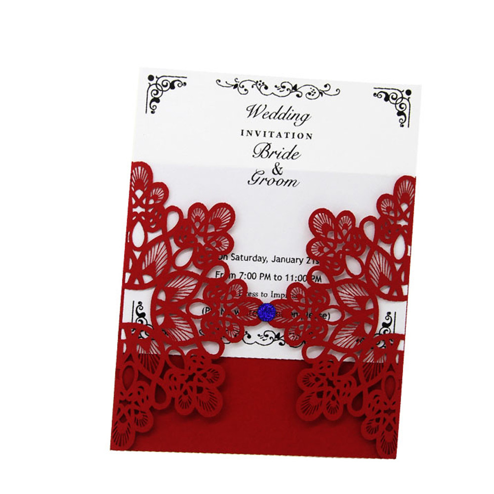 20 Pcs Delicate Carved Romantic Wedding Party Universal Invitation Card Envelope Wedding Decoration Party Supplies