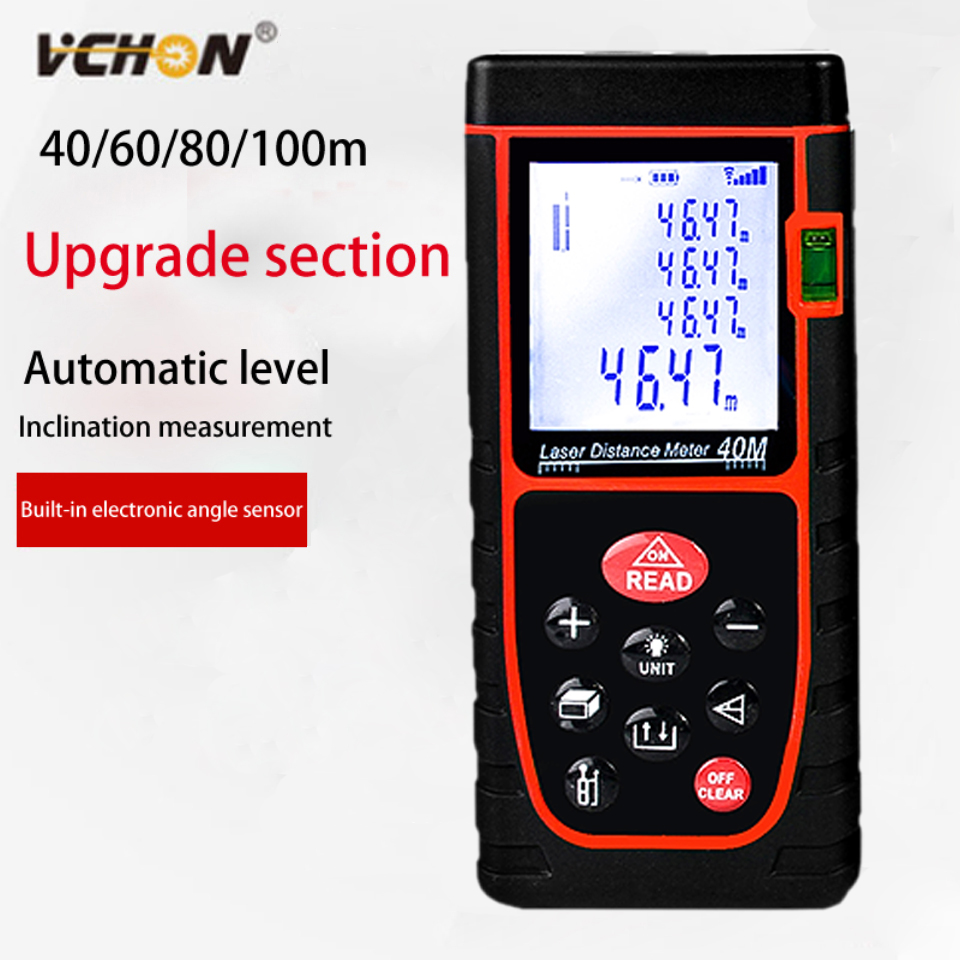 Vchon лазерный дальномер 40 м 60 м 80 м 100 м измерения расстояния датчик лазерный дальномер Finde метро trena лазерный дальномер цифровой