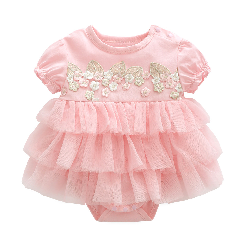 57f3483ba3bc summer baby girl dress baptism for newborn baby girl clothes pink set 2  kids flower dresses for girls wedding baby clothing