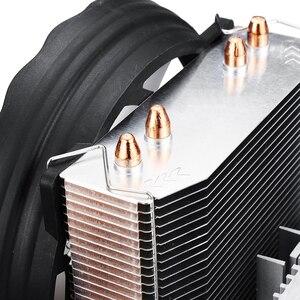 Image 5 - 4 Heatpipes 120mm CPU Cooler LED RGB Fan for Intel LGA 1155/1151/1150/1366 AMD Good quality Horizontal CPU Cooler