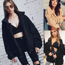 Lanxirui Brand Women S Woolen Coat Long Sleeve Oversized Loose Jumper Cardigan Outwear