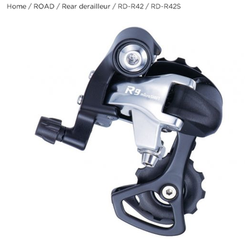 Microshift Road Bike Aluminum Alloy 9 Speed RD-R42 Rear Derailleur Bicycle Parts Rear Derailleur Fit for Road Cycling