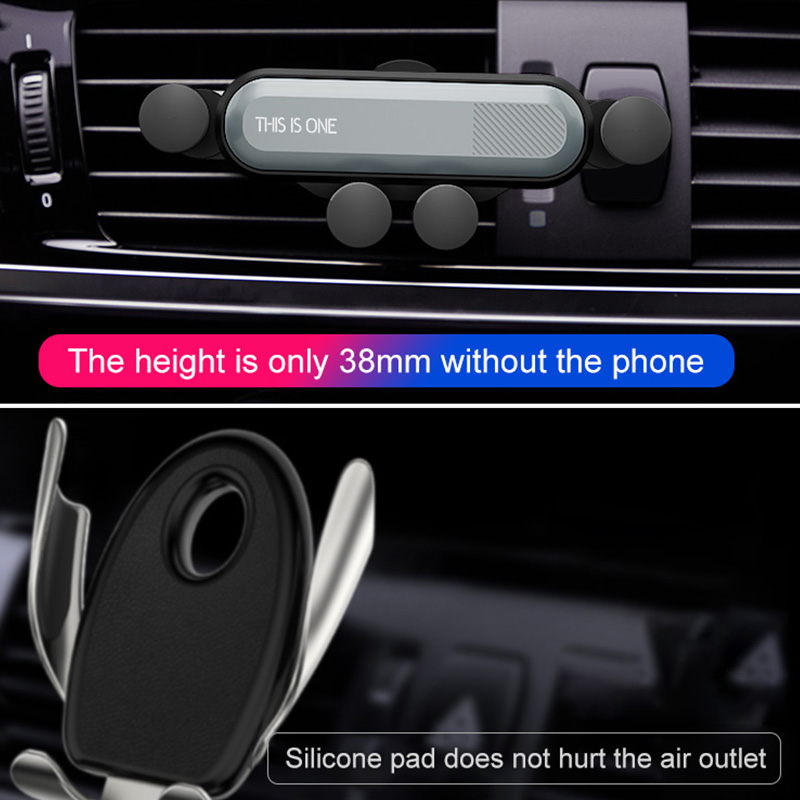 Image 4 - Car vent mobile phone holder universal automatic grip creative gravity induction car GPS bracket car phone stabilizer snap on-in Universal Car Bracket from Automobiles & Motorcycles