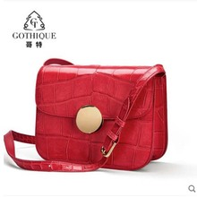 gete New 2019 crocodile skin bag for women fashion trend small square bag crocodile  belly  bag single shoulder bag gete 2016 new import thailand siamese real crocodiles belly female shoulder bag handbag inclined shoulder women shell bag page 7