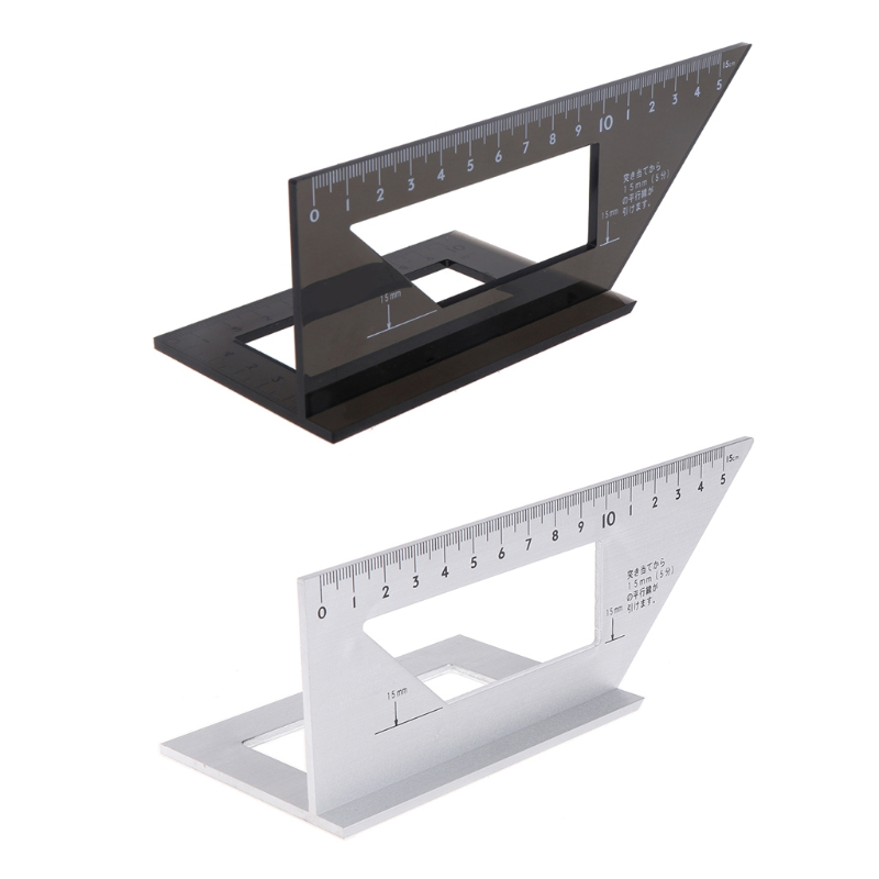 Aluminum Alloy Woodworking Ruler Multifunctional Square 45 degree 90 degree Gauge Rule L15 фаzа accuf8 l3w l15