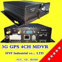 4CH MDVR 4 channel vehicle surveillance video recorder High definition 3G GPS vehicle monitoring equipment AV/RCA interface