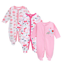 Baby's Jumpsuits with Long Sleeves, 3 Pcs Set
