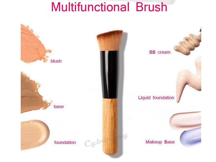 1pcs Multi Function Professional Makeup Brushes Powder Concealer Blush Foundation Make Up Brush Set Wooden Kabuki