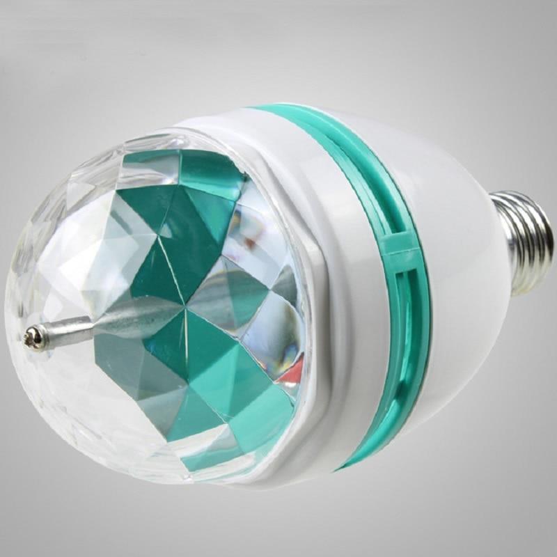 220V 3W RGB disko Lampada LED E27 rotirajuća disko kugla za DJ odmor - Rasvjeta za odmor - Foto 6