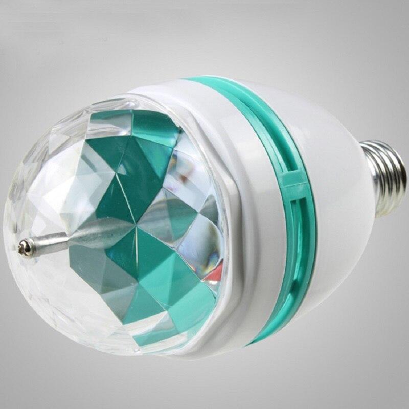 220V 3W RGB Disco Lampada LED E27 Roterande Disco Ball för DJ - Festlig belysning - Foto 6