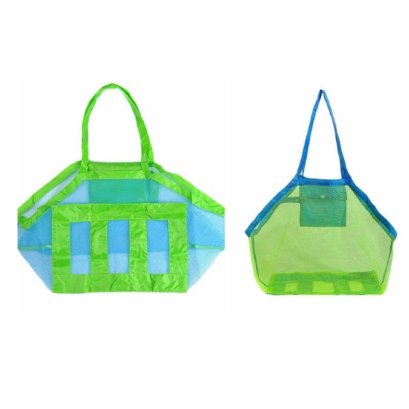 Folding Swimming Bag Mesh Bag Anti Sand Storage Bag Large Capacity Tote Bag Sand Away Portable Children Beach Toys Organizer