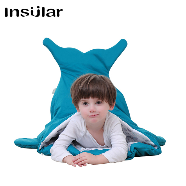 New Arrival Cotton Shark Baby Sleeping Bag Children Sleeping Sack Warm Baby Blanket Warm Swaddle Children Quilt(1-3 Years Old)