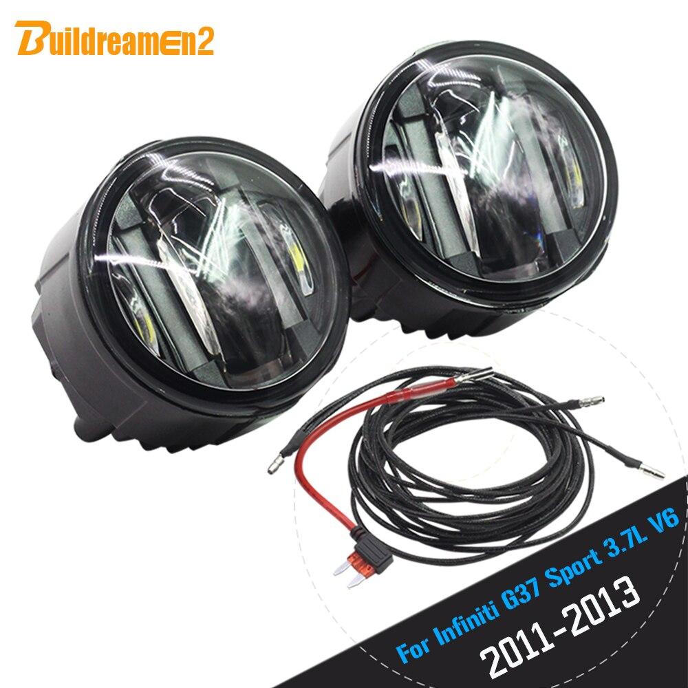 Автомобиль Buildreamen2 аксессуары светодиодный Источник света противотуманная фара дневные ходовые огни DRL для Инфинити G37 Спорт 3.7 Л V6 газа 2011-2013