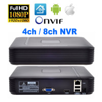 4CH 8CH CCTV NVR 1080P HDMI Xmeye Onvif H 264 Network Video Recorder For IP Camera