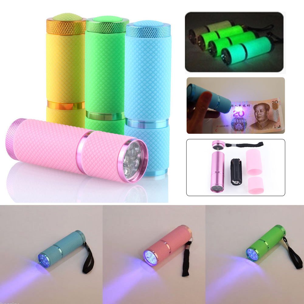 High Brightness Portable Multifunction UV Ultra Violet 9LED Flashlight Backlight Torch 395nm For Medical Equipment