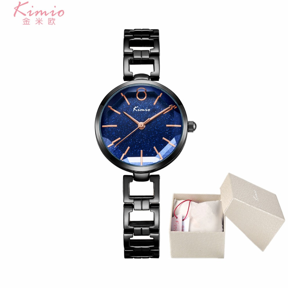 Kimio Brand Women Watches Skeleton Steel Bracelet Japan Quartz Watch Ladies Famous Luxury Relogio Feminino Dress Clock With Box japan movt fashion women gold watches 2018 luxury brand leather lancardo ladies quartz watch women dress clock relogio feminino