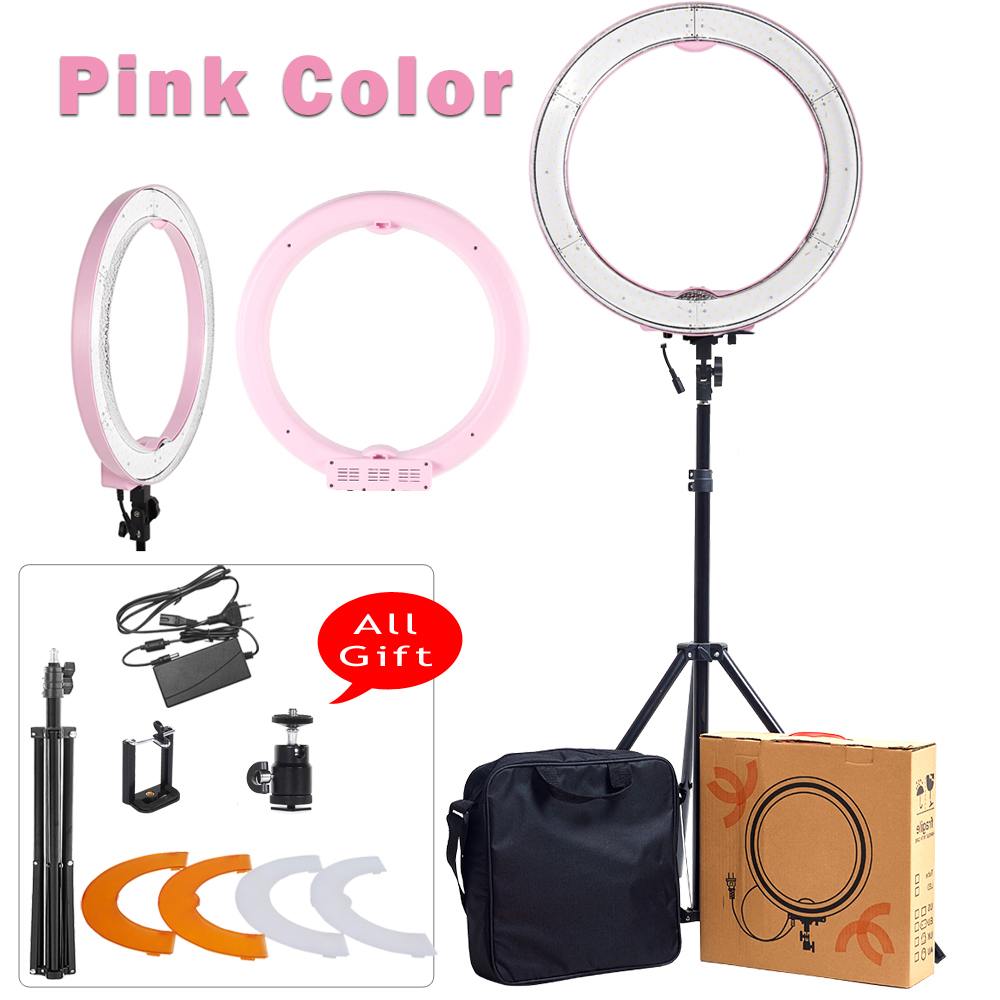 ASHANKS 55W 5500K Ring Light With Stand 240 LED Photographic Lighting Dimmable Camera Photo Studio Phone