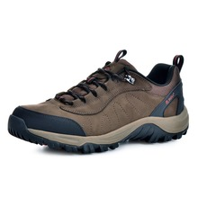 RAX Men Waterproof Leather Antiskid Hiking Shoes Men Outdoor Trail Camping Climbing Mountaineering Hunting Shoes 43-5c307