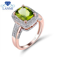 New Fantastic Solid 14Kt Rose Gold Ravishing Peridot Ring Free Shipping Wholesale Jewelry for Women Party R00122