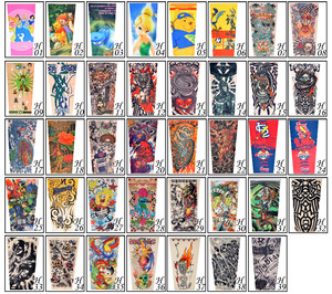 2017 New kids cool Cartoon sunscreen tatoo Child arm art sleeve cycling temporary tattoo Stretchy scorpion fake tattoo sleeves