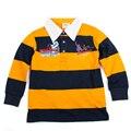 Retail nova niños niños ropa de algodón de alta calidad gira el collar abajo boy t-shirt estilo de fashional 2015 nuevo diseño