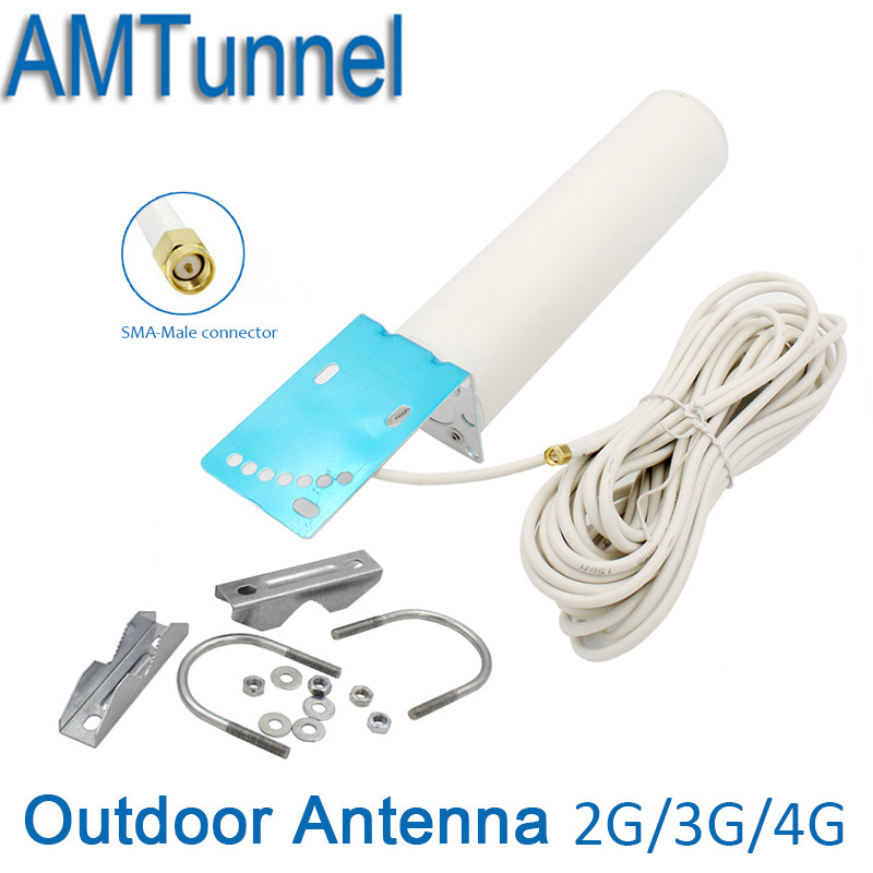 4G LTE antenna WIFI Antenna 3G 4G router antenna 4G repeater antenna with 10m cable SMA for signal booster repeater router modem цены
