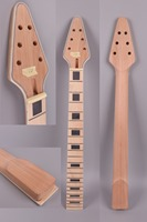Free Shipping Yinfente electric guitar neck replacement 22 fret 24.75 inch Mahogany Maple fretboard Arrow Head Binding