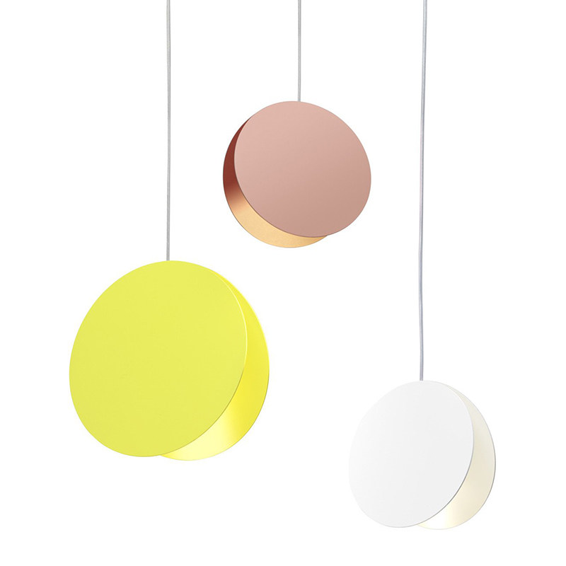 North simple Modern pendant Light DIY white yellow coffe dining room bedroom living room children