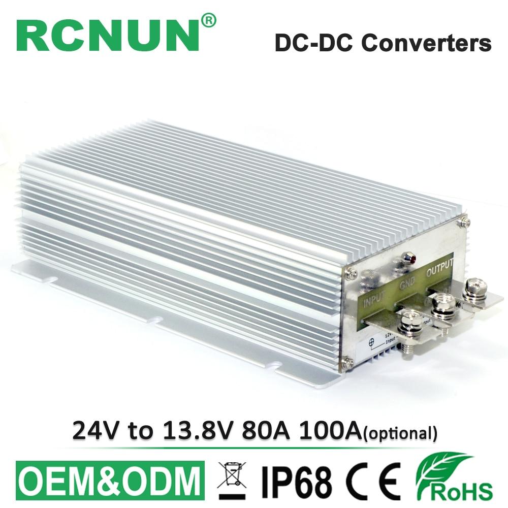 24V to 13 8V 100A DC DC Step Down Converter 24V 13 8V 80A DC DC