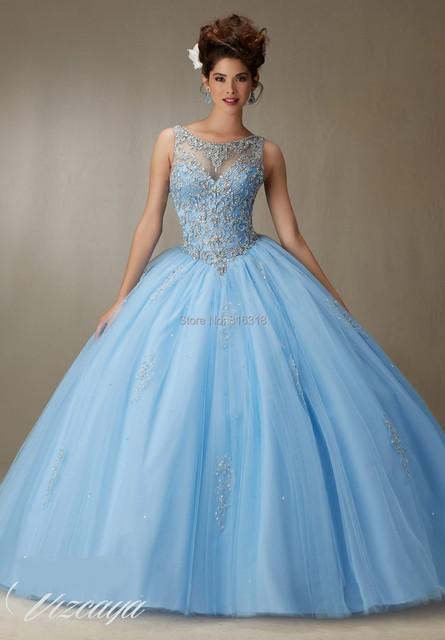 2016 Barato Vestidos de Quinceañera Debutante Dulce 16 Vestidos de Princesa Azul Coral rojo Rosa Blanca En Línea vestido de Bola Vestidos de 15 Anos