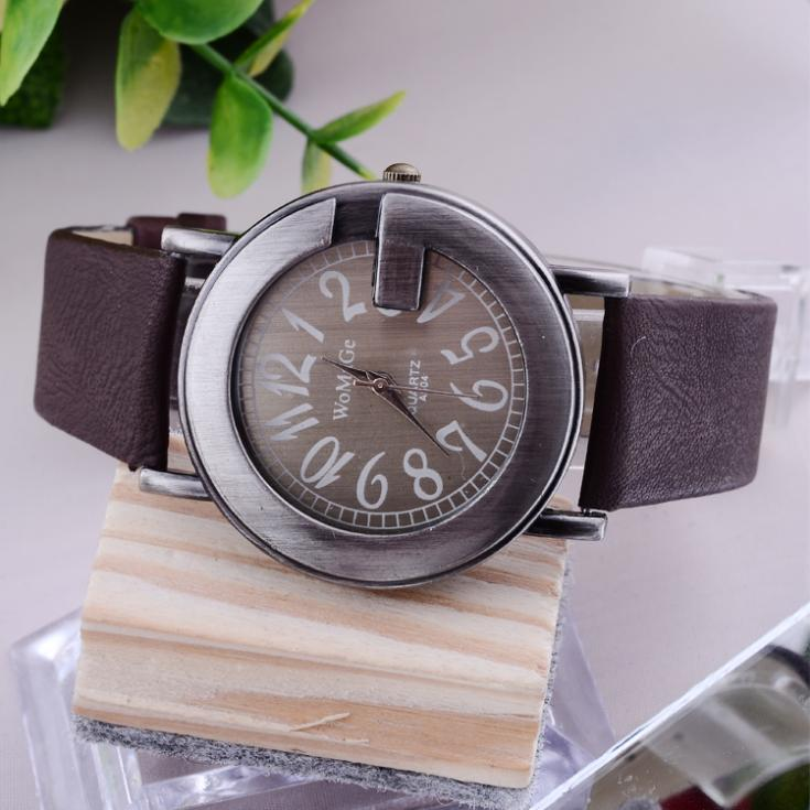 WOMAGE Brand Watch Luxury Women Dress Watches Leather Strap Watches G Pattern Vintage Ladies Wrist Quartz