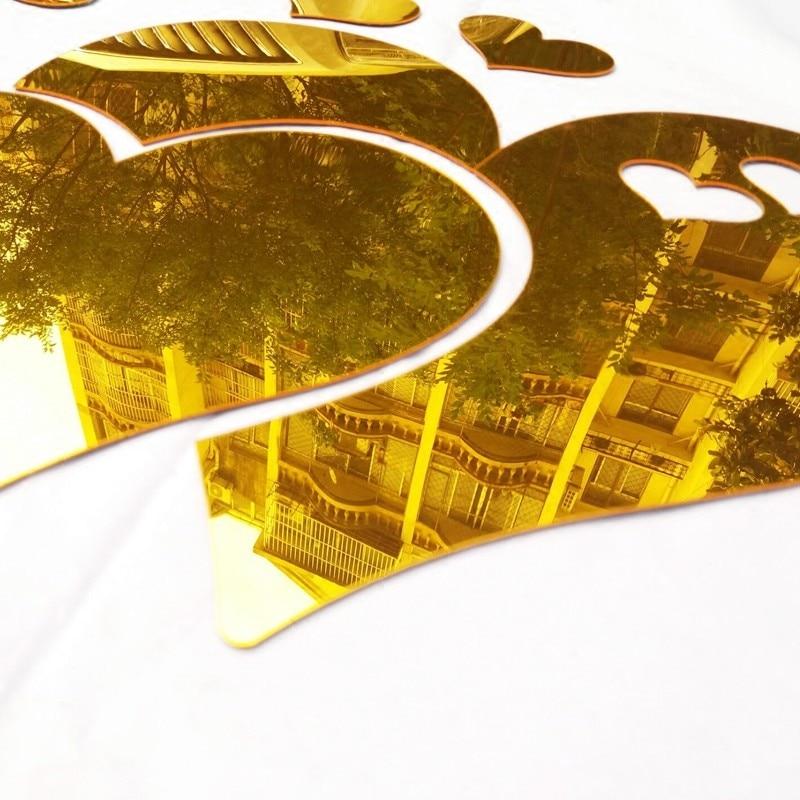 Romantik sevgi Güzgü 3D divar nişanları Öz-özünə yapışan - Ev dekoru - Fotoqrafiya 5