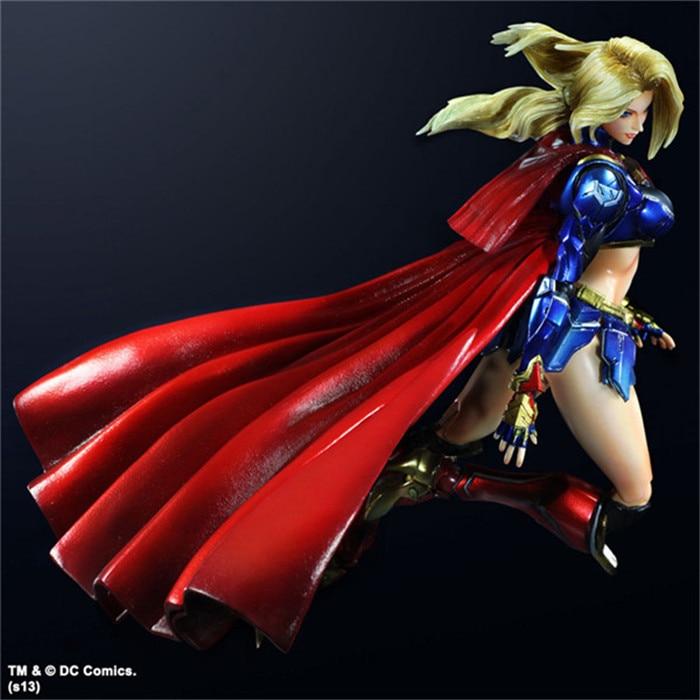 SQUARE ENIX Play Arts KAI DC COMICS NO.7 SUPERGIRL PVC Action Figure Collectible Models Toys 28cm KT2902