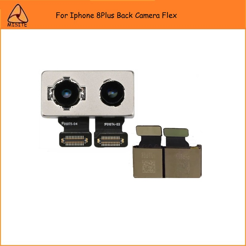 2PCS/LOT Tested Original Phone Back Camera Module Facing Flex Cable for Iphone 8Plus 8P 5.5''Rear Big Camera Flex repair Parts