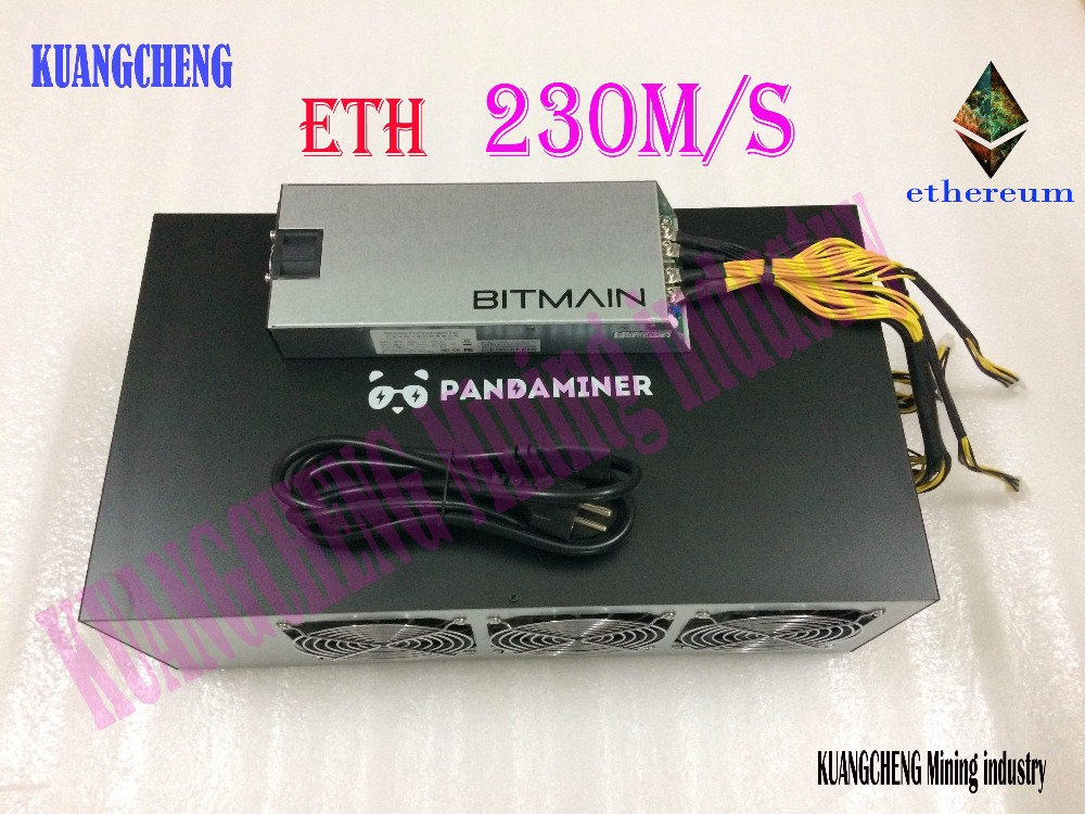 KUANGCHENG Mining Industry PandaMiner 230MH Ethereum GPU Miner ETH Zcash XMR Supported Newest Ether Miner For Ether Zcash Mining
