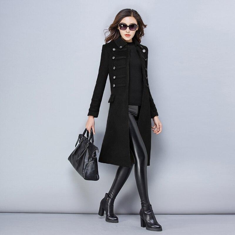 Invierno de gran tamaño S-3XL de lana de las mujeres chaqueta de abrigo de Otoño de 2018 de moda de alta calidad largo chaqueta ropa femenina ll582 - 3