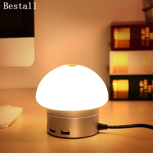 Bestall 6 Port Usb Charging Station Desktop Charger Led Desk Bedside