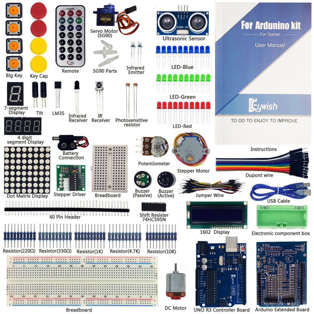 цена на Ultimate Starter Kit For Arduino Beginner MEGA328 MEGA16 UNO R3 Starter Kit With 70Pages Tutorial UNO R3 Board