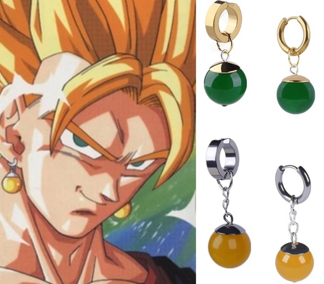 Super Dragon Ball Z Vegetto Potara Black Son Goku Cosplay Costumes Ring Zamasu Earrings Ear Stud