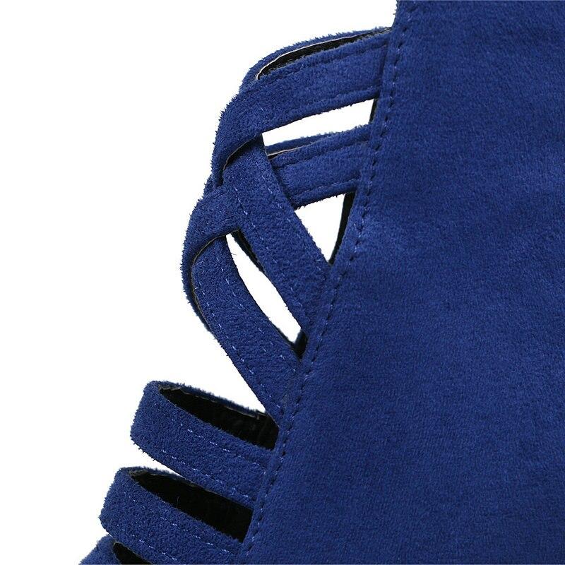Gran Del 43 Señalaron 34 azul Azul Mujer 2019 Rojo Tamaño Alto Talón rojo Botas Nuevas Negro Botines Mujeres Sexy Negro De qwpTx6E0