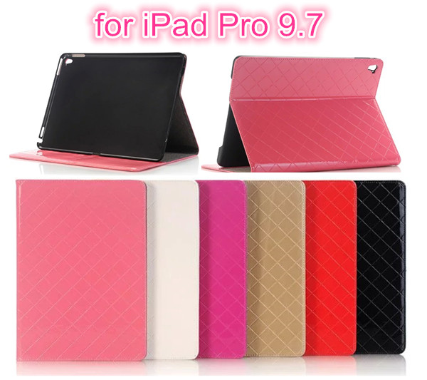 Net vein case cover For ipad Pro 9.7 Luxury PU Leather Case With Stand Holder for Apple iPad Pro 9.7 air 3 Tablet Cases stand