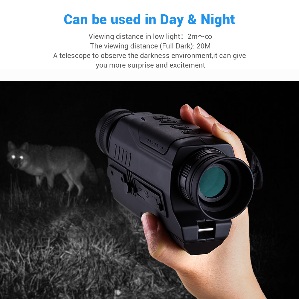 Image 5 - BOBLOV PJ2 5x32 Digital Infrared Night Vision Goggle Monocular 200m Range Free 16GB DVR for Hunting Telescope Military Tactical-in Night Visions from Sports & Entertainment